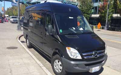 Black Mercedes Van VAN 10-14 Passengers